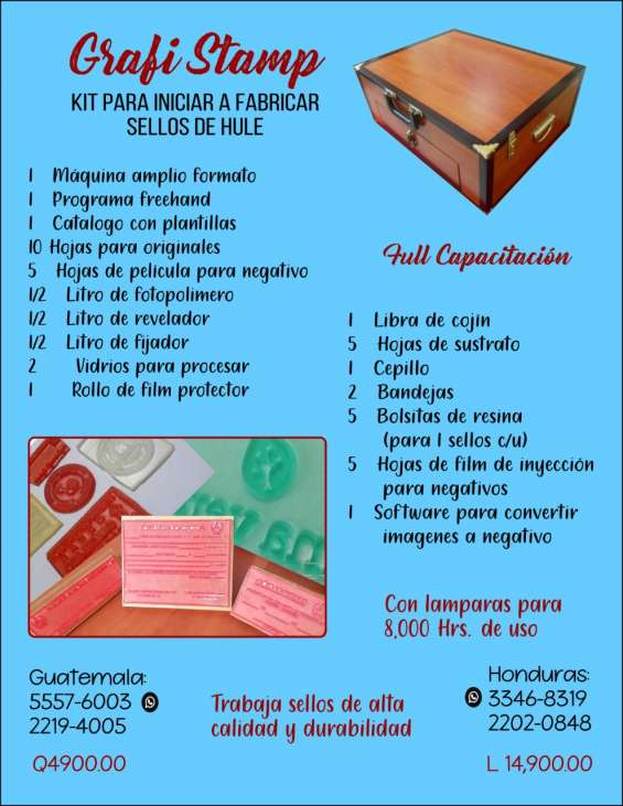 Procesadoras para elaborar sellos de hule